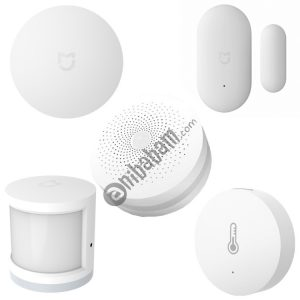 5 in 1 Original Xiaomi Mijia Intelligent Multifunctional Gateway Upgraded Version + Original Xiaomi Intelligent Mini Wireless Switch + Original Xiaomi Intelligent Mini Door Window Sensor + Original Xiaomi Intelligent Human Body Sensor + Original Xiaomi Intelligent Temperature Humidity Sensor for Xiaomi Smart Home Suite Devices, Support Android 4.0 and IOS 7.0 Above
