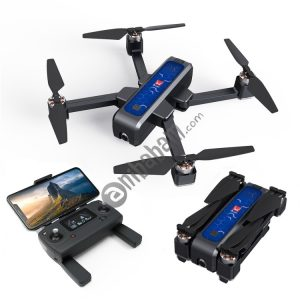 B4W Portable Foldable Remote Control Aircraft RC Quadcopter Drone with 2K HD Camera (Black)