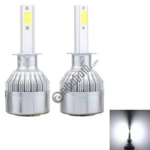 2 PCS H1 18W 1800 LM 6000K IP68 Canbus Constant Current Car LED Headlight with 2 COB Lamps, DC 9-36V (White Light)