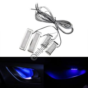 4 PCS Universal Car LED Inner Handle Light Atmosphere Lights Decorative Lamp DC12V / 0.5W Cable Length: 75cm
