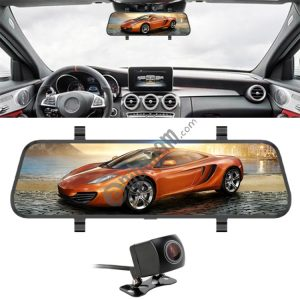 10 inch 140 Degrees Wide Angle 1080P Front Camera Starlight Night Vision + Rear Camera 140 Degrees 1080P Video Car DVR