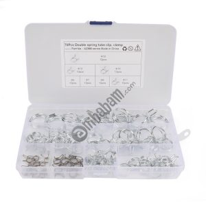 70 PCS Double Wire Spring Tube Clamp Water Pipe Clamps, Size: 5.0-18mm