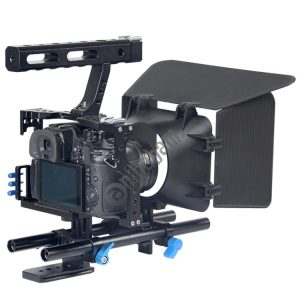 YELANGU YLG1105A Handle Video Camera Cage Stabilizer Kit with Matte Box & Follow Focus for Panasonic Lumix DMC-GH4 & G7 / Sony A7 & A7S & A7R & A7RII & A7SII