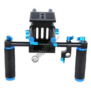 YELANGU YLG0102A-A01 Dual Handle Shoulder Mount Support Kit DSLR Rig (Black & Blue)