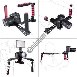 YELANGU D6-2 Rig I Multifunctional Handles Camera Shoulder Mount for DSLR Camera / Video Camera (Red)