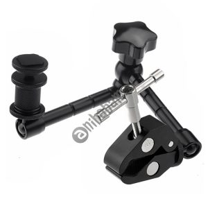 11 inch Adjustable Friction Articulating Magic Arm + Large Claws Clips for DSLR / LCD Monitor (Black)