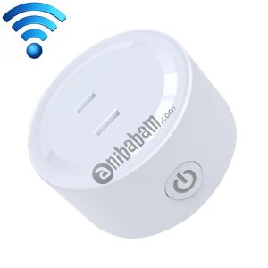 10A Round Shape WiFi Mini Plug APP Remote Control Timer Smart Socket, Support Alexa & Google Home, AC 100-240V, JP / US Plug