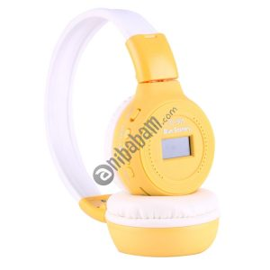BS-N65 Headband Folding Stereo HiFi Wireless Headphone Headset with LCD Screen & TF Card Slot & LED Indicator Light & FM Function