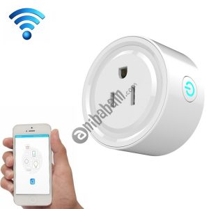 10A Round Shape WiFi Mini Plug APP Remote Control Timing Smart Socket Works with Alexa & Google Home, AC 100-240V, US Plug