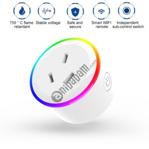 10A RGB Scene Light WiFi Remote Control Smart Socket Works with Alexa & Google Home & IFTTT, AC 100-240V, AU Plug