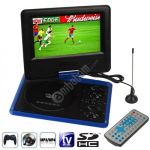 NS-758 7.5 inch TFT LCD Screen Digital Multimedia Portable DVD with Card Reader & USB Port, Support TV (PAL / NTSC / SECAM) & Game Function, 270 Degree Rotation, Support SD / MS / MMC Card (Blue)
