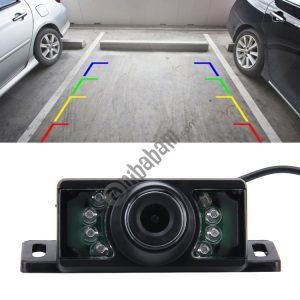 7 LED IR Infrared Waterproof Night Vision Rear View Camera for Car GPS, Wide viewing angle: 170 degree (DM320P) (Black)