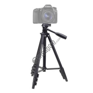 YUNTENG VCT-681 138cm SLR / Micro-SLR / Digital Cameras Tripod Stand, 4-Section Folding Aluminum Legs, Suitable for Canon / Nikon / Panasonic / Pentax / Casio / Sony / Fuji (Max Load Capacity: 3kg)