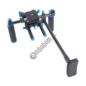 YELANGU YLG0102E Dual Handles Free Camera Shoulder Mount Kit (Black & Blue)