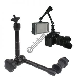 11 inch Articulating Magic Arm for LCD Field Monitor / DSLR Camera / Video lights (Black)