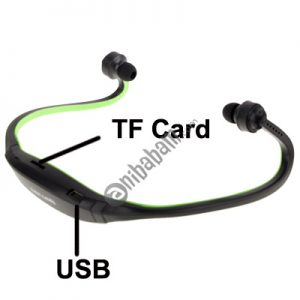 Sport MP3 Player Headset with TF Card Reader Function, Music Format: MP3 / WMA