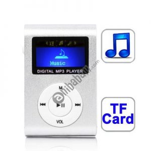 TF (Micro SD) Card Slot MP3 Player with LCD Screen, Metal Clip