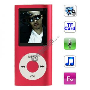 1.8 inch TFT Screen Metal MP4 Player with TF Card Slot, Support Recorder, FM Radio, E-Book and Calendar