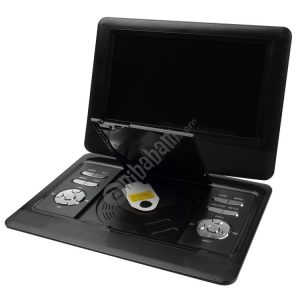 10 inch TFT LCD Screen Digital Multimedia Portable DVD with Card Reader & USB Port, Support TV (PAL / NTSC / SECAM) & Game Function, 180 Degree Rotation, Support SD / MS / MMC Card (Black)