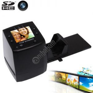 2.4 inch Screen Film Scanner with Capture Picture & Mirror Image / Rotation, Support SD Card (Black)