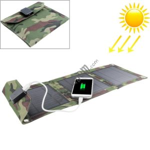 7W Portable Folding Solar Panel / Solar Charger Bag for Laptops / Mobile Phones
