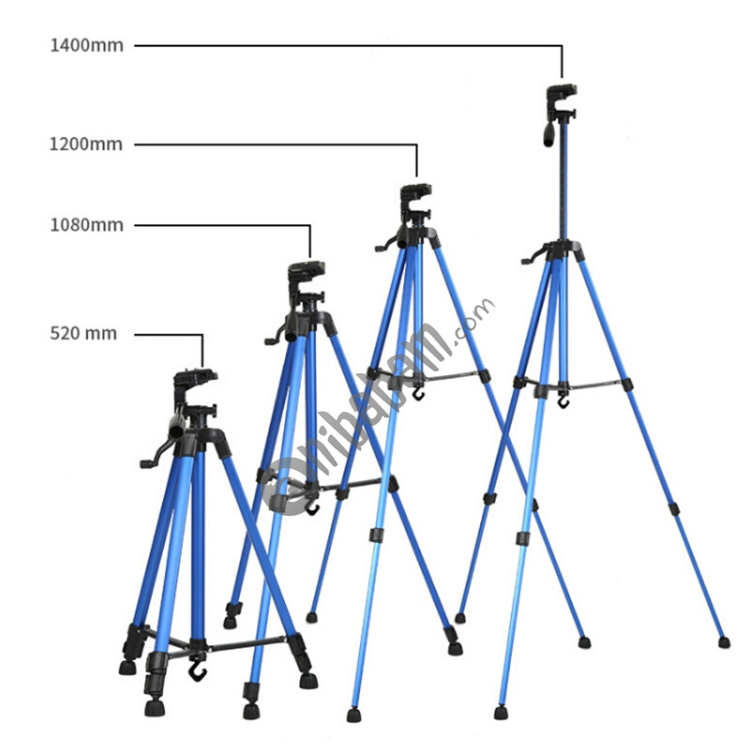 Silver Camera /& Photo Products Portable Phone Live Selfie 3366 Tripod Stand DV SLR Camera Self-Timer Full Light Bracket Color : Red