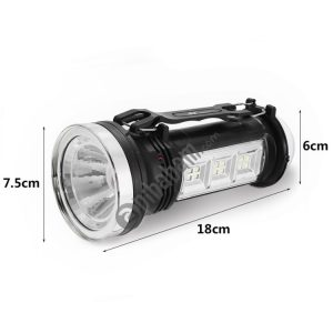 3 PCS Portable Outdoor Solar Rechargeable LED Lantern Flashlight Searchlight Camping Hanging Lamp