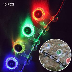 10 PCS Outdoor Camping Tent Portable Water-resistant 3-Mode LED Light, Pendent Light, Random Color Delivery