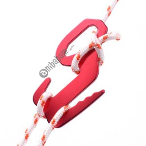 2 PCS 9-shaped Baggage Hook Bundled Hang Buckle Hook Rope Buckle Canopy Tent Wind Rope Buckle Random Color Delivery