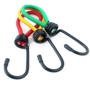 3 PCS Outdoor Camping Tent Elastic Rope Buckle High Elasticity Fixed Straps Camping Accessories, Random Color Delivery