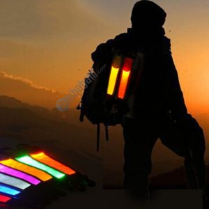 2 PCS Outdoor Backpack Reflective Strap Field Distress Signal Light