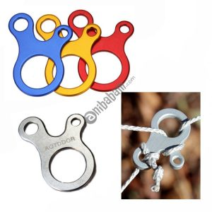 10 PCS Camping Tent Cord Rope Fastener Carabiner Hook Hanger Tightener Wind Rope Buckles