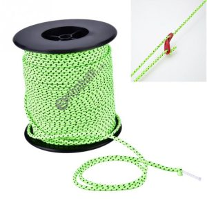 2.5mm Diameter Reflective String Windproof Tent Rope Line Camping Rope Reflective Tent Ropes, Length: 50m