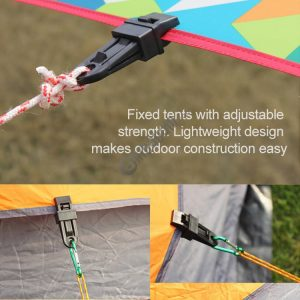 3 PCS Tents Wind Rope Clamp Awnings Outdoor Camping Plastic Clip Tents Accessories