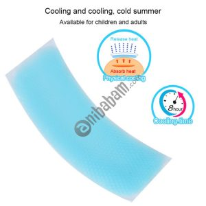 12 PCS Fever Forehead Physical Cooling Sticker Headache Patches