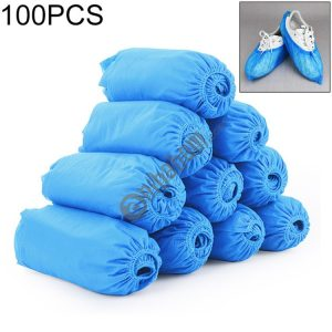 100 PCS 400g Disposable Shoe Covers Indoor Cleaning Floor Thicken Non-Woven Fabric Overshoes