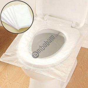 50 PCS Travel Disposable Toilet Seat Cover Mat Toilet Paper Pad