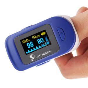 Precision Finger Pulse Oximeter Blood Oxygen Monitor (Blue)
