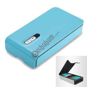 Multi-functional USB Charged UV Light Disinfection Sterilization Cleaning Box for Phone / Glasses / Jewelry (Baby Blue)
