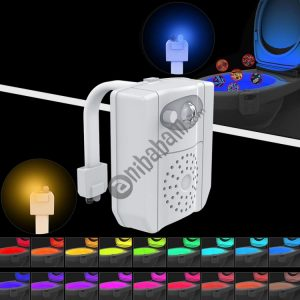 16-colors PIR Motion Sensor + Light Sensor UV Sterilization Aromatherapy LED Light