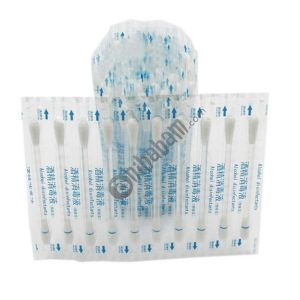 100 PCS Disposable Alcohol Disinfection Cotton Swab Health Care Tool