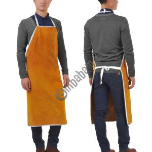 Full Leather Electric Welding Apron High Temperature Fireproof Star Splash Protective Clothing