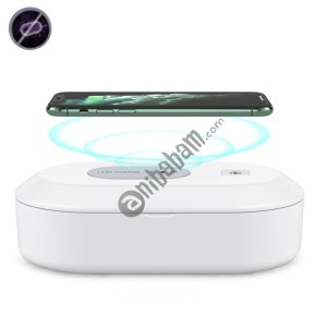 15W Wireless Charging Sterilization Box Smartphone Sterilizer UV Light Disinfection Cleaning Box (White)