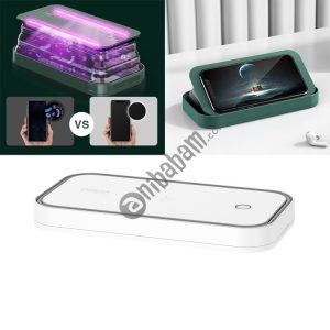 ROCK Smartphone Sterilizer UV Light Disinfection Cleaning Box with Holder Function (White)