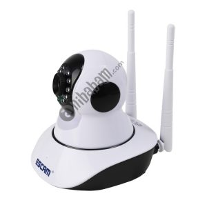 ESCAM G02 720P 1/4 inch PTZ WiFi IP Camera, Support Motion Detection / Night Vision, IR Distance: 8m (White)