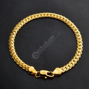 Hot Fashion Jewelry Simple 18k Yellow Gold Bracelet (Gold)