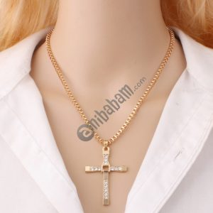 10 PCS Fashion Rhinestone Cross Pendant Encrypted Box Necklace
