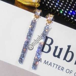 Fashion Long Tassel Crystal Earrings for Women