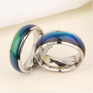 5 PCS Fine Jewelry Mood Ring Color Change Emotion Feeling Mood Ring Changeable Band Temperature Ring, Ring Size: 16, 17, 18, 19, 20mm