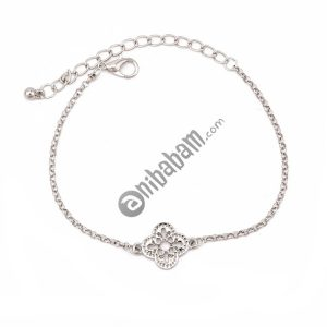 3 PCS/Set Retro Bracelets Silver Hollow Leaves Flowers Adjustable Chain Bracelet
